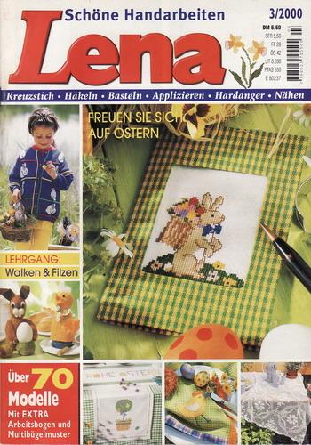 03/2000 Lena, časopis o vyšívání, ruční práce, německy