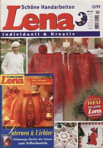 10/1999 Lena, časopis o vyšívání, ruční práce, německy