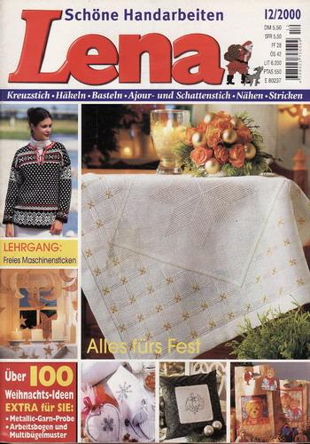 12/2000 Lena, časopis o vyšívání, ruční práce, německy