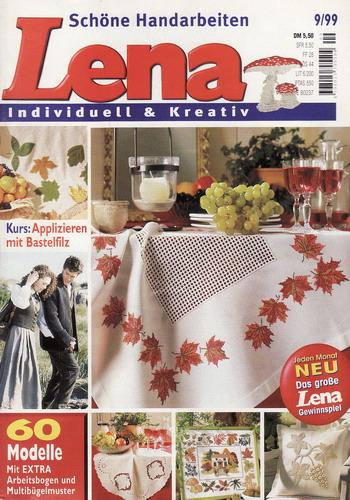 09/1999 Lena, časopis o vyšívání, ruční práce, německy