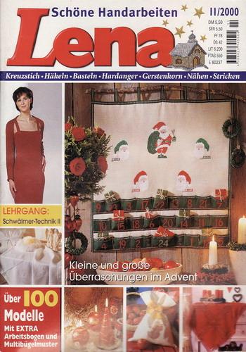 11/2000 Lena, časopis o vyšívání, ruční práce, německy