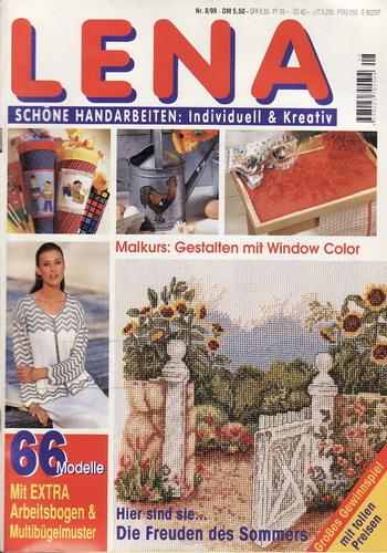 00/2000 Lena, časopis o vyšívání, ruční práce, německy Extra