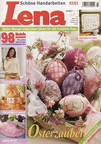 03/2003 Lena, časopis o vyšívání, ruční práce, německy