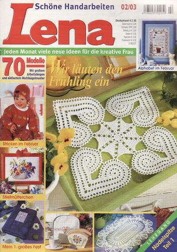 02/2003 Lena, časopis o vyšívání, ruční práce, německy