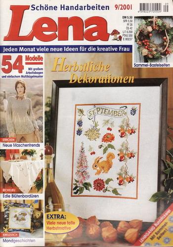 09/2001 Lena, časopis o vyšívání, ruční práce, německy