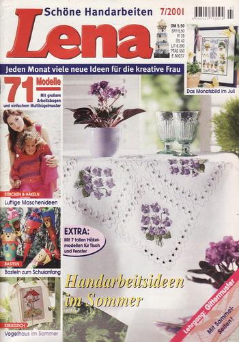 07/2001 Lena, časopis o vyšívání, ruční práce, německy