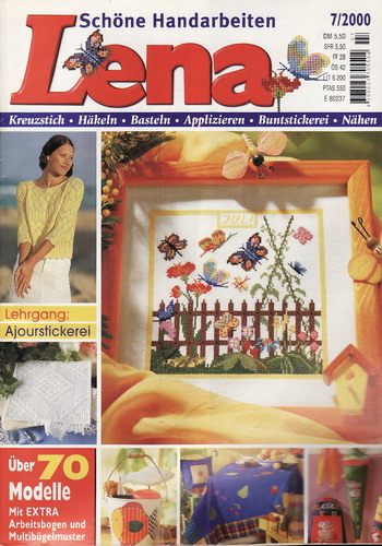 07/2000 Lena, časopis o vyšívání, ruční práce, německy