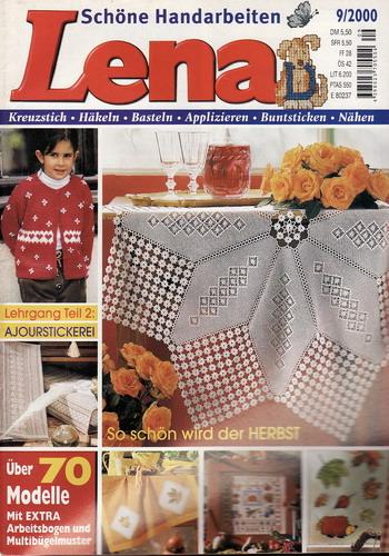 09/2000 Lena, časopis o vyšívání, ruční práce, německy