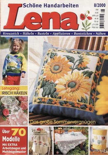 08/2000 Lena, časopis o vyšívání, ruční práce, německy
