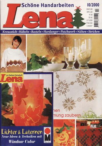 10/2000 Lena, časopis o vyšívání, ruční práce, německy