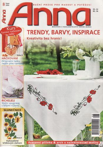 08/2005 Anna, časopis o vyšívání, ruční práce