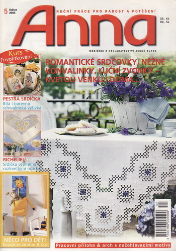 05/2005 Anna, časopis o vyšívání, ruční práce