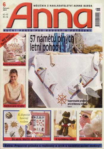 06/2000 Anna, časopis o vyšívání, ruční práce