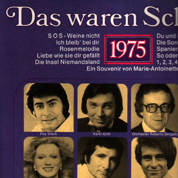 LP Das waren Schleger, Karel Gott, Freddy Quinn... výběr 1975