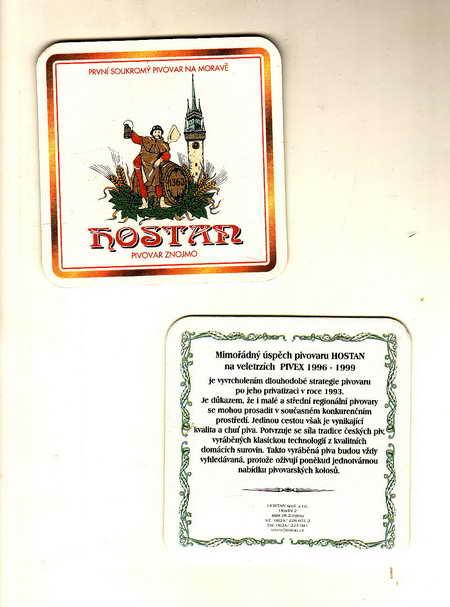 Hostan, pivovar Znojmo, první soukromý pivovar na Moravě