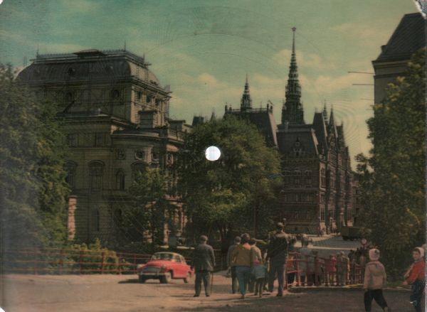 SP Foto pohlednice, Liberec, Červená modrá fiala, 1963