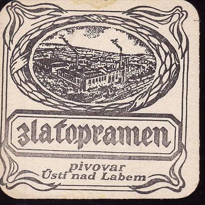 Zpatopramen, pivovar Ústí nad Labem, černý, jednostranný