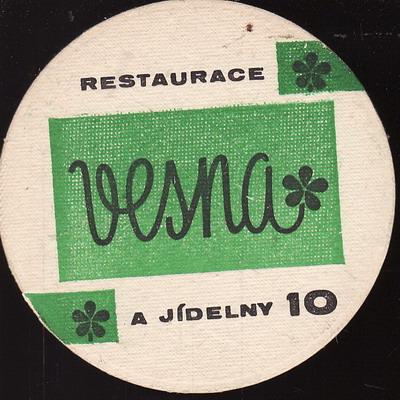 Restaurace a jídelny Vesta 10, oboustranný, zelený kulatý