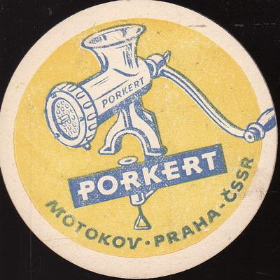 Porkert Motokov Praha ČSSR, oboustranný