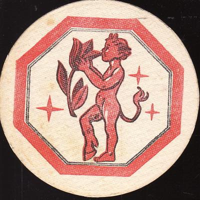 Čertík Marbulínek, červený, jednostranný