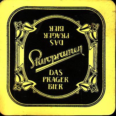 Staropramen Das Prager Bier, žluto černý jednostranný