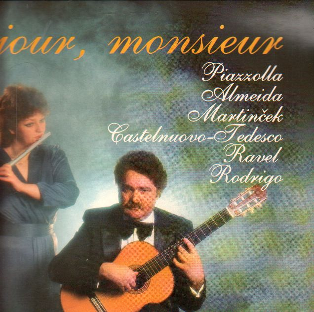 LP Bonjour, monsieur, Dagmar Zsapková Šebestová, Jozef Zsapka, 1989