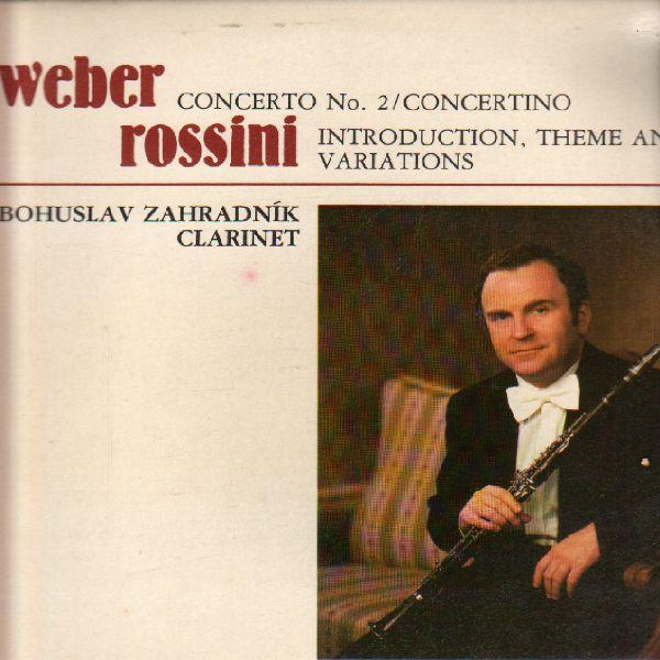 LP Carl Maria von Weber, Gioacchono Rossini, Bohuslav Zahradník, 1984