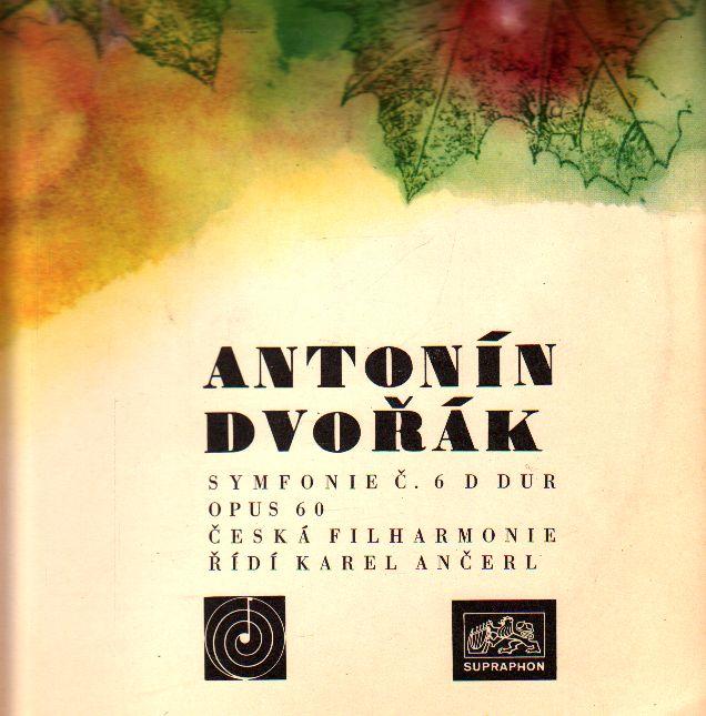 LP Antonín Dvořák, symfonie č. 6 D dur, Karel Ančerl, 1966, DV 6257