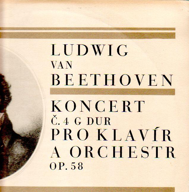 LP Ludwig van Beethoven, koncert č.4 G dur, 1967, DV 6204