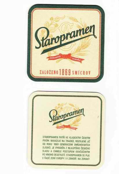 Staropramen, založeno 1869 Smíchov