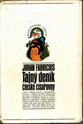 Tajný deník čínské císařovny / Jahan Fabricius, 1971