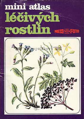 Mini atlas léčivých rostlin, barevné karty a popisy